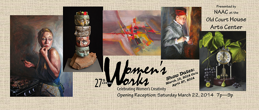 Women's Works 2014 postcard link to the Show 2014 page